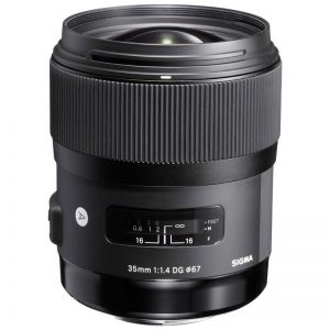 Sigma 35mm For Rent f1.4 ART for Canon DSLR