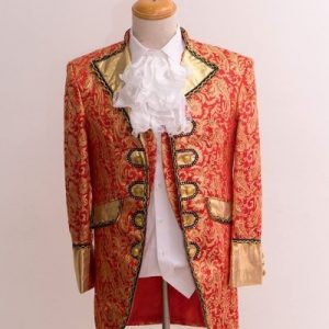 Red & Golden Masquerade Male Coat Size M For Rent   Men Suits   RentSmart Asia   Renting Is The New Buying