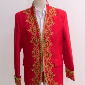 Red Masquerade Male Coat Size L For Rent   Men Suits   RentSmart Asia   Renting Is The New Buying