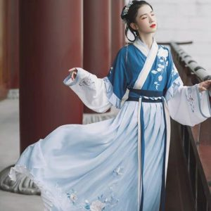 Blue Female Chinese Hanfu Size M Costume For Rent   RentSmart Asia   Renting Is The New Buying