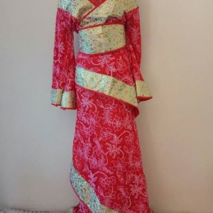 Red & Gold Chinese Style Female HanFu / TangZhuang Size M | RentSmart Asia | Renting Is The New Buying
