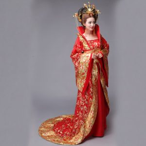 Red Chinese Style Female HanFu / TangZhuang Size L Costume For Rent | RentSmart Asia | Renting Is The New Buying