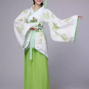 White and Green Chinese Style Female HanFu / TangZhuang Size L/M Costume For Rent | RentSmart Asia | Renting Is The New Buying