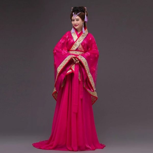 Red Chinese Style Female HanFu / TangZhuang Size M/L   RentSmart Asia   Renting Is The New Buying