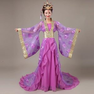 Purple Chinese Style Female HanFu / TangZhuang Size M Costume For Rent   RentSmart Asia   Renting Is The New Buying