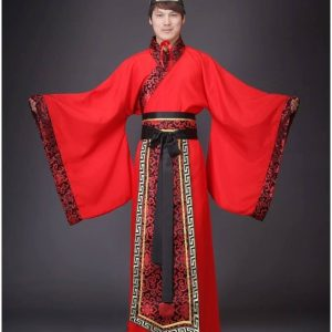 Red Male Chinese Style HanFu Size M Costume For Rent | 15% | RentSmart Asia | Renting Is The New Buying