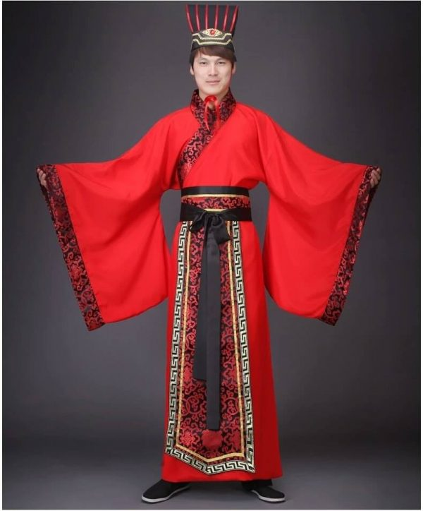 Red Male Chinese Style HanFu Size M Costume For Rent   RentSmart Asia   Renting Is The New Buying