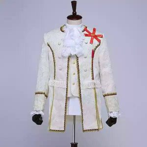 White Masquerade Male Coat Size M   Men Suits   RentSmart Asia   Renting Is The New Buying