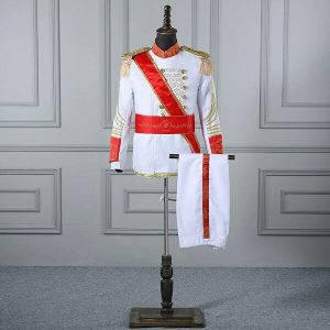 White & Red Masquerade Male Coat Size M/L   Men Suits   RentSmart Asia   Renting Is The New Buying
