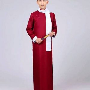 Maroon Male Traditional Shanghai Size L Costume For Rent | 15% | RentSmart Asia | Renting Is The New Buying