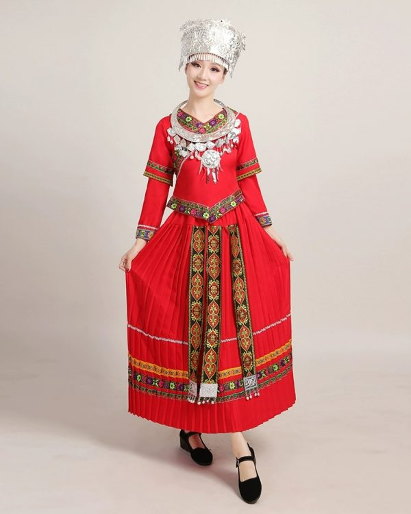 Ethnic clothing red