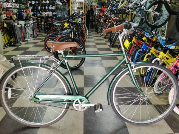 Green Iron Vintage Bicycle For Rent
