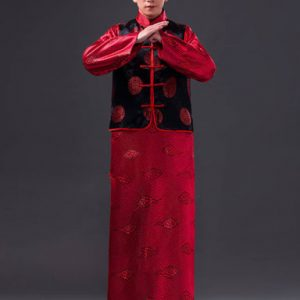 Red & Black Chinese Gentleman Baylor Suit For Rent | Cultural Wear | RentSmart Asia | Renting Is The New Buying