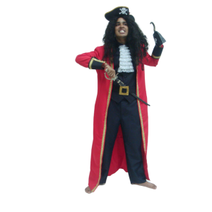 Red & Black Captain Hook Costume Size L   Men's Clothing   RentSmart Asia   Renting Is The New Buying