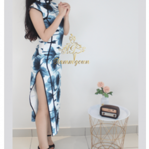 GM 022 Blue Flora Cheongsam | Cultural Dresses | RentSmart Asia | Renting Is The New Buying