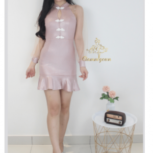 GM 029 Modern Pink Cheongsam | Cultural Dresses | RentSmart Asia | Renting Is The New Buying