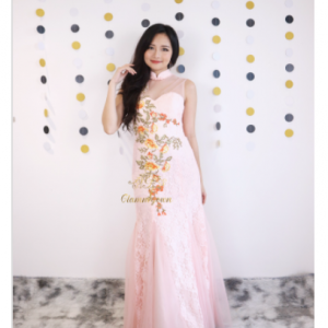 GM289 Peachy Modern Cheongsam | Cultural Dresses | RentSmart Asia | Renting Is The New Buying