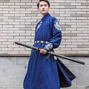 Male Chinese Traditional Blue HanFu ZhiDuo For Rent | Cultural Wear | RentSmart Asia | Renting Is The New Buying