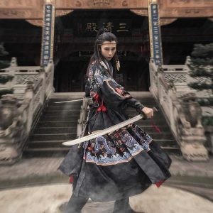 Chinese HanFu Traditional Black YiSan For Rent   Men's Clothing   RentSmart Asia   Renting Is The New Buying