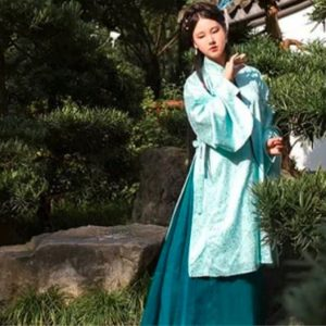 Female Chinese Traditional Turquoise Plain HanFu For Rent | Cultural Dresses | RentSmart Asia | Renting Is The New Buying