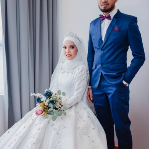 Ball Gown Off White and Coat | Wedding Gowns | RentSmart Asia | Renting Is The New Buying