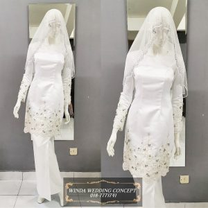 Baju Kurung Modern Off White | Wedding Gowns | RentSmart Asia | Renting Is The New Buying