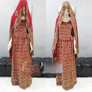 Boliwood Dress with full beads maroon | Cultural Wear | RentSmart Asia | Renting Is The New Buying