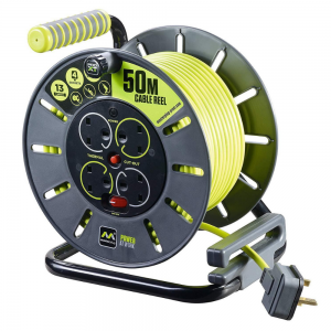 Masterplug 50m 4 Gang 13 Amp Cable Reel For Rent
