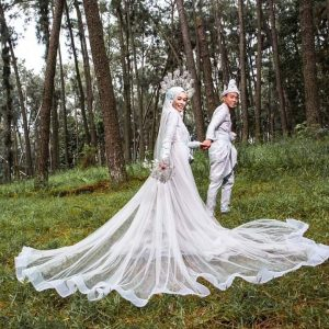 Dress Songket Sky Blue | Wedding Gowns | RentSmart Asia | Renting Is The New Buying