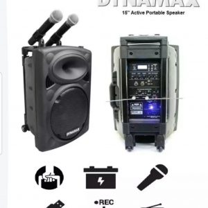"""Dynamax Active Portable Speaker System For Rent 15"""""""