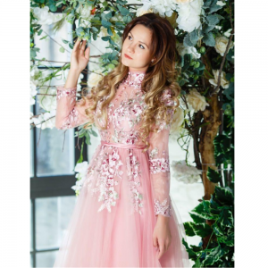 Sequin Lace Pink Soft For Rent