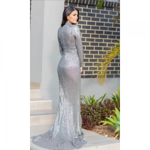 Silver Slim Dress for Rent