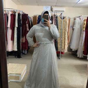 Sequin Silver A-line Dress For rent