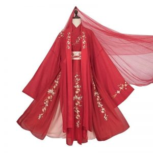 Female Chinese Traditional HanFu Red For Rent | Cultural Dresses | RentSmart Asia | Renting Is The New Buying