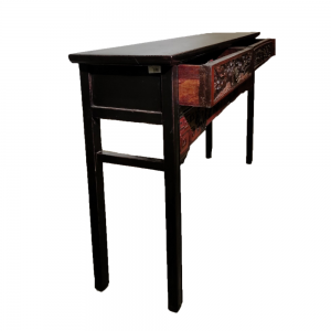 2 Drawer Console with Antique Carving | RentSmart Asia | Renting Is The New Buying