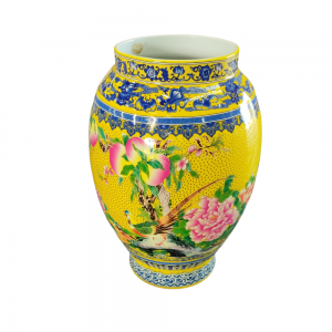 Chinese Vase Yellow For Rent