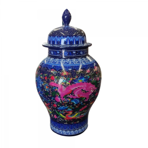 Chinese Vase (Blue) For Rent