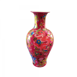 Chinese Vase (Red) For Rent