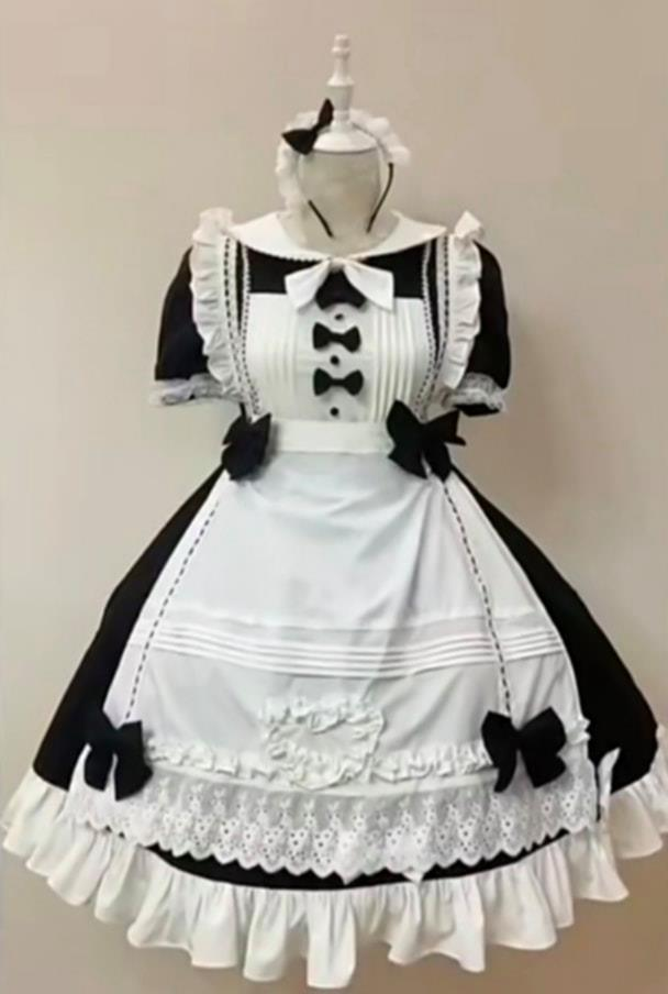 Japanese Cute Maid French Maid Costume Waiter Waitress Lolita Maid Cafe (女仆装可爱女仆) for Rent | Costumes | RentSmart Asia | Renting Is The New Buying