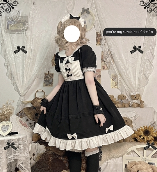 Japanese Cute Maid French Maid Costume Waiter Waitress Lolita Maid Cafe (女仆装可爱女仆) for Rent   RentSmart Asia   Renting Is The New Buying